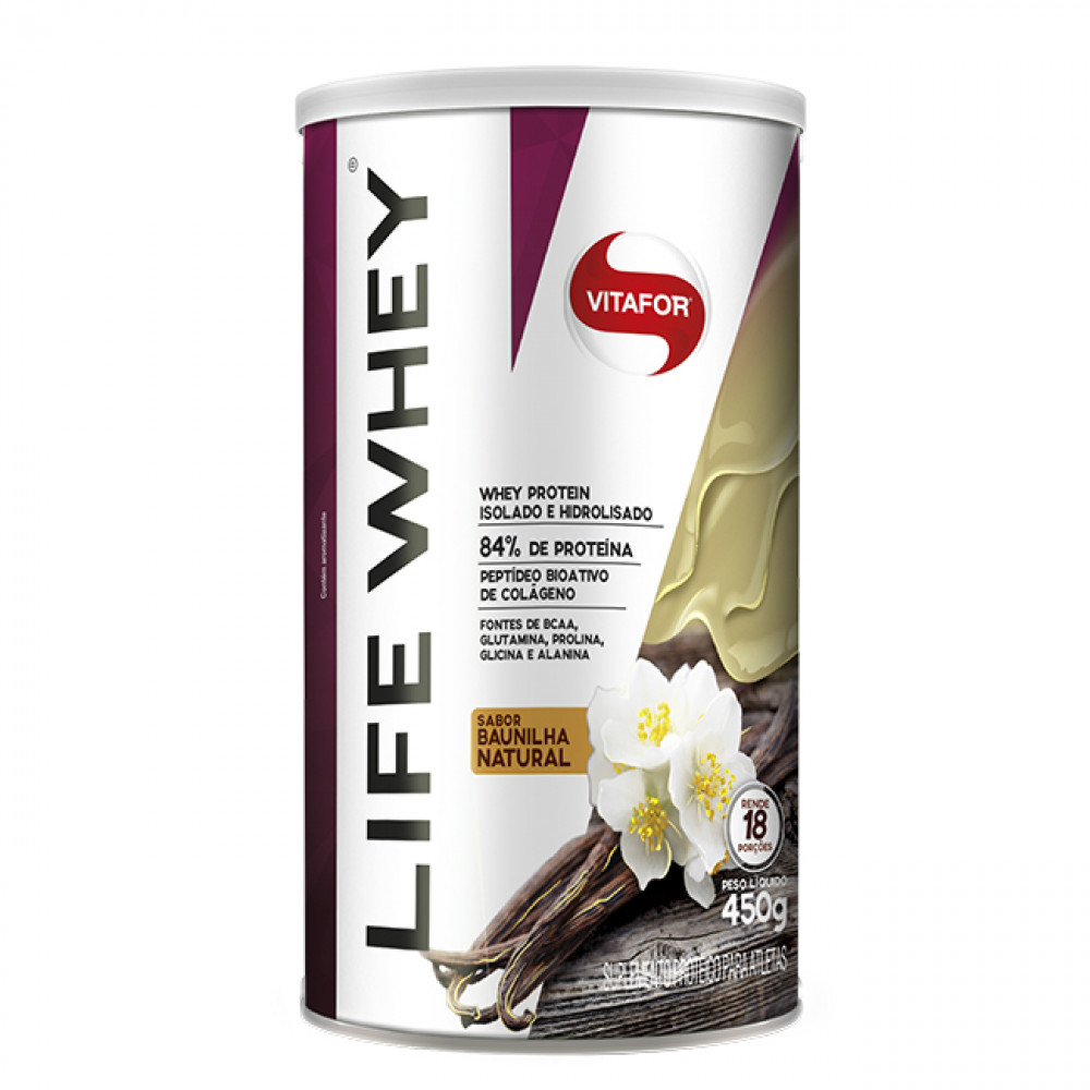Life Whey Baunilha - Vitafor 450 g
